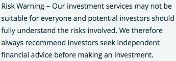 Risk warning information 1